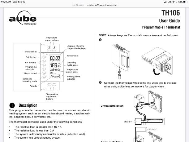 II-979265-2020-6604-Specification Sheet of Thermostat