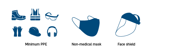 COVID-19 Inspection Guidelines - PPE, no social distancing