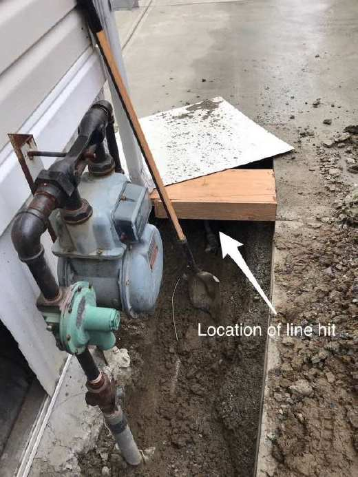 Damage To Propane Gas Line Technical Safety Bc