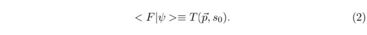 Inner product of the two functions, F and ψ