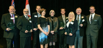 (L-R) Ken Wardstrom, Hennie Prinsloo, Ray DeMeyer, Catherine Roome, Her Honour, the Honourable Judith Guichon, Lieutenant Governor of BC, Dave Nicolson, Debbie Clyne, Warren Sparks, Richard Ballantyne