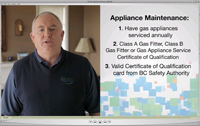 1 minute 51 second video on how to have your gas appliance serviced.
