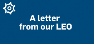 A letter from our LEO