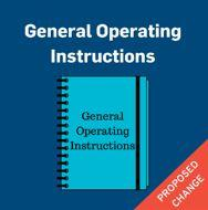 General operating instructions