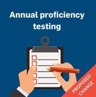 Annual proficiency testing