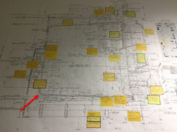 Location of failure on boiler drawing