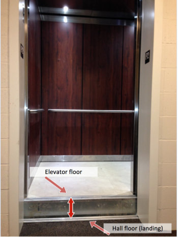 Elevator Out-of-Level with the Floor (Hall Landing)